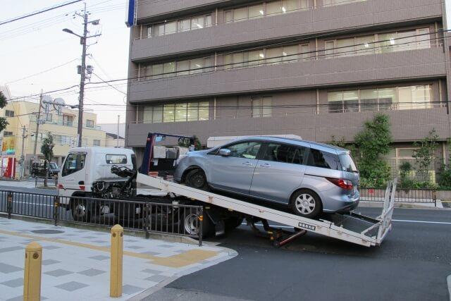 動かない車